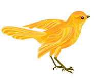 Gold bird. In flight vector illustration without gradients royalty free illustration