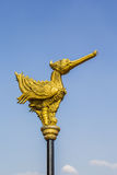 Gold bird statue Stock Photos