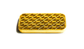 Gold biscuit bar on a white background. Stock Photography