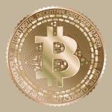 Gold-bitcoin Lizenzfreie Stockbilder