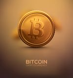 Gold Bitcoin Stock Image