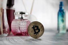 Gold bitcoin - fragrance composition Stock Photography