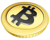 Gold bitcoin Royalty Free Stock Images
