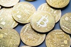 Gold bitcoins royalty free stock photos