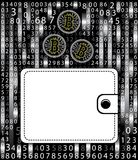Gold bitcoins in a leather purse. the concept of modern earnings and savings . Royalty Free Stock Photography