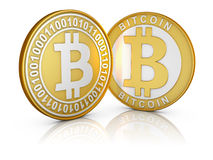 The gold Bitcoins Stock Images