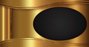 Gold black Abstract Background Royalty Free Stock Photography
