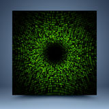 Green vector pattern mosaic abstract background Stock Photo