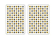 Gold and black. The back side of the playing card. Gold and black. Poker and bridge. Standard size. Vector illustration vector illustration
