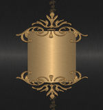 Gold on the black background. Vintage Royalty Free Stock Photography