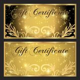 Voucher, Gift certificate, Coupon template. Royalty Free Stock Images