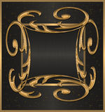 Gold with black banner Stock Images