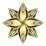 Gold and Black Beautiful Decorative Ornate Mandala Stock Image