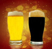 Gold and black beer Stock Image