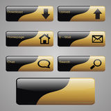 Gold & Black Buttons Stock Images