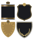 Gold and black crest Stock Image