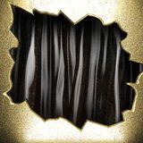Gold on black curtain Stock Image