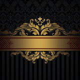 Gold and black decorative background. Stock Images
