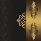 Gold and black decorative background. Stock Image