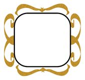 Gold black decorative frame Stock Photos