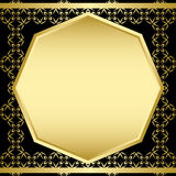 Gold and black decorative vector frame - card Stock Images