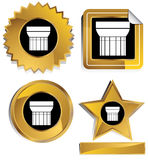 Gold and Black - Doric Column Royalty Free Stock Image