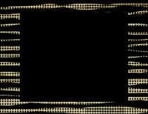 Gold black dots frame background Royalty Free Stock Photo