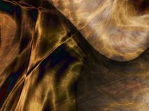 Gold black flame waves Stock Images