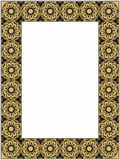 Gold and black frame Stock Image