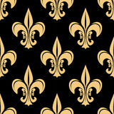 Gold and black french seamless pattern Stock Photos
