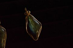 Gold and Black Gemstone Jewelry Royalty Free Stock Photography