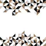A gold and black geometric background Royalty Free Stock Images