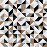 A gold and black geometric background Royalty Free Stock Image