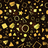 Gold and black geometric pattern Royalty Free Stock Images