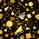 Gold and black geometric pattern Stock Photography
