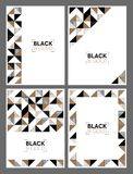 Gold and black geometric templates Stock Image