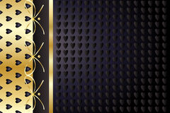 Gold and black heart vintage background Royalty Free Stock Image
