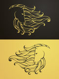 Gold and black horse Royalty Free Stock Photography