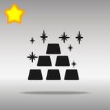 Gold black Icon button logo symbol Royalty Free Stock Photo
