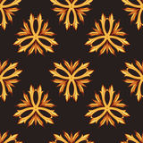 Gold and black luxury retro style seamless pattern Royalty Free Stock Photos