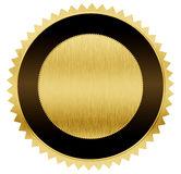 Gold and black medal with clipping path Stock Photo
