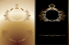 Gold And Black  Ornate Royal Backgrounds Stock Photo