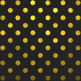 Gold Black Polka Dot Pattern Digital Paper Royalty Free Stock Images