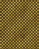 Gold Black Polka Dots Faux Foil Metallic Texture Royalty Free Stock Image