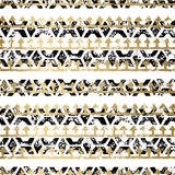 Gold and Black seamless pattern Royalty Free Stock Photo