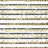 Gold and Black seamless pattern Royalty Free Stock Photography