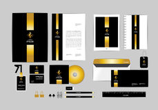 Gold, black and silver corporate identity template for your business 1 Royalty Free Stock Photos