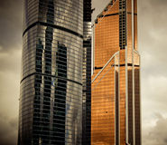 Gold and black skyscraper Stock Images