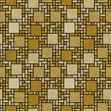 Gold and Black Square Mosaic Abstract Geometric Design Tile Patt. Ern Repeat Background that is seamless and repeats Stock Photography