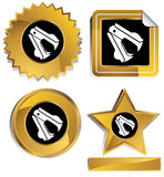 Gold and Black - Staple Remover. Set of 3D gold and black chrome icons - staple remover Stock Photos